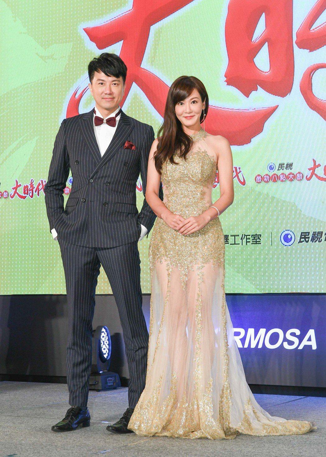 邱琦雯、吳皓昇搭檔演出「大時代」。圖/民視提供