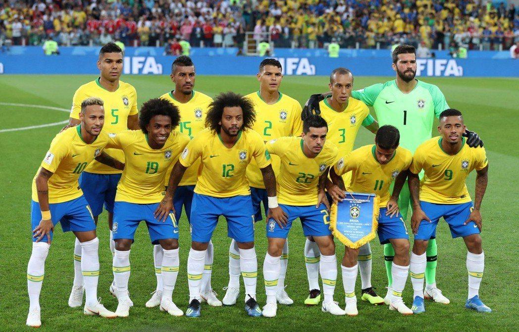 2018世足賽巴西隊。 新華社