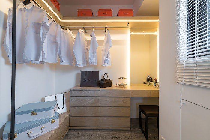 「双捷晶華」兩房產品可以規劃出獨立衣帽間。  圖/業者提供