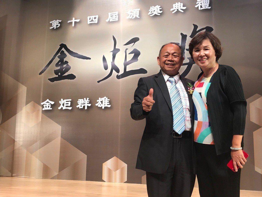 捷暘企業總經理詹德興伉儷. 張傑/攝影
