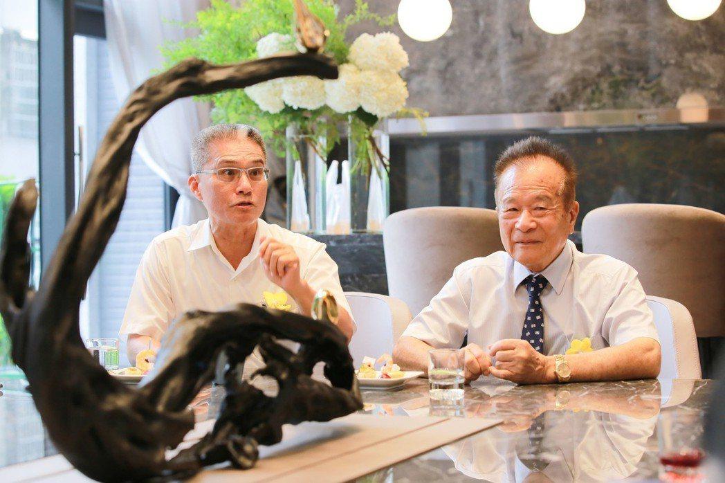 吉隆建設董事長方吉雄(右)和總經理戴文雄不惜成本、全心打造吉隆天森。 攝影/張世...