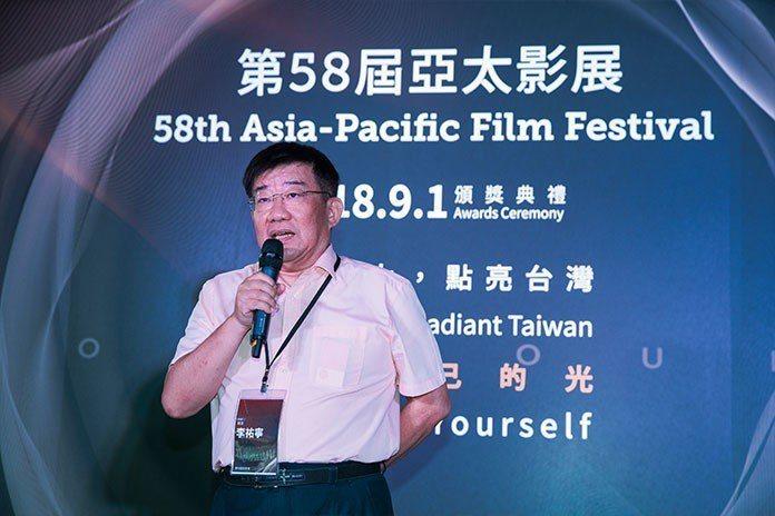 李祐寧報告今年亞太影展特色。 王金文