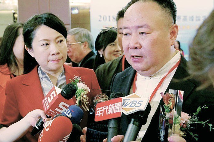 謝沅瑾與張淯連袂接受媒體訪問。 王金文、林益瑞