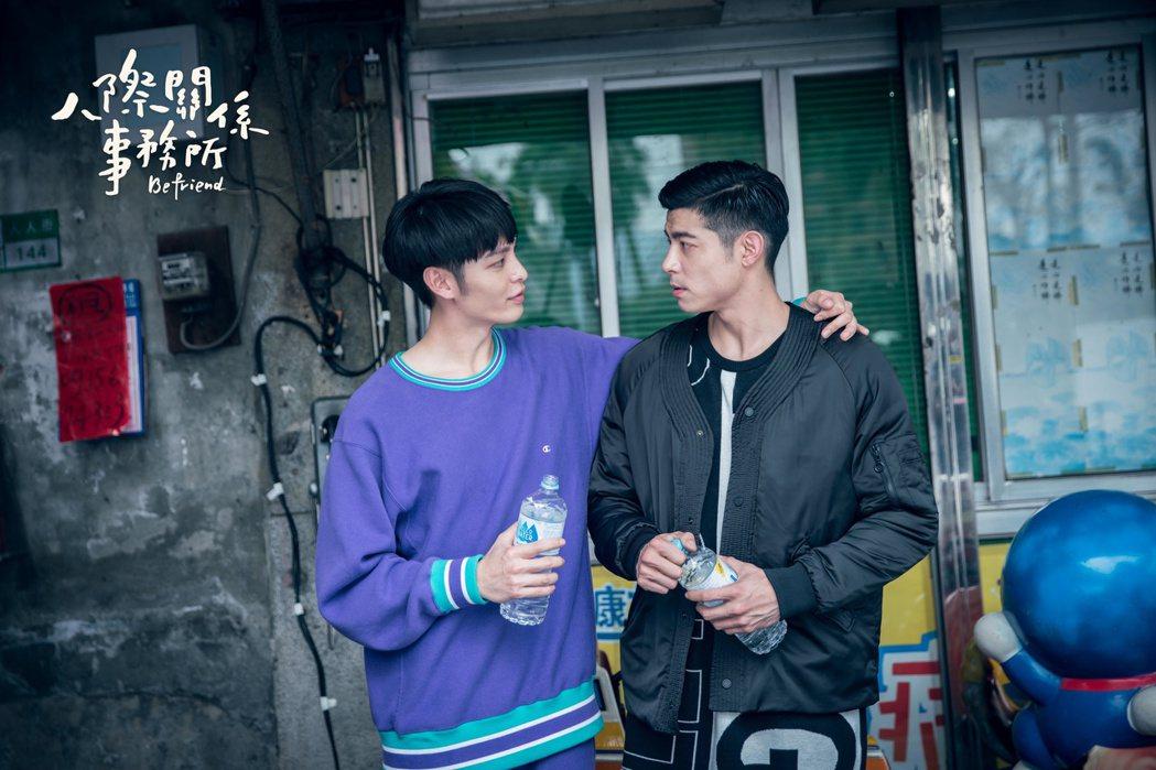 曹佑寧(左)、王柏傑因幻想吻戲被拱為CP。圖/歐銻銻娛樂提供