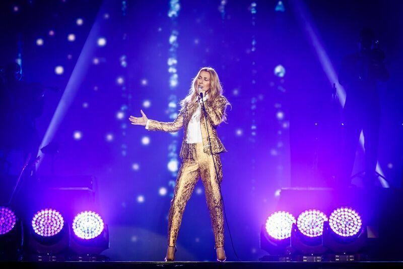 席琳狄翁29日在澳門舉行演唱會。圖/AEG提供