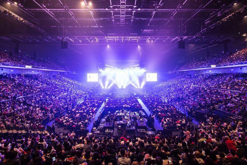 席琳狄翁29日在澳門舉行演唱會,吸引約1萬1千名觀眾。圖/AEG提供