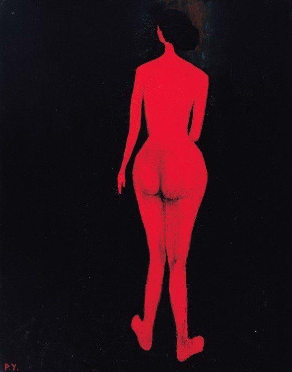 王攀元作品《紅影》。圖/史博館提供