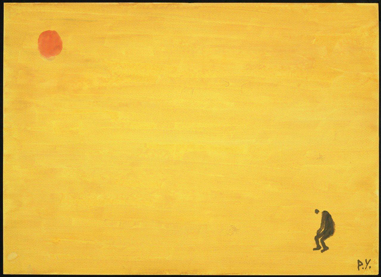 國寶畫家王攀元作品主角常形單影隻,例如一人、一狗、一鳥。圖/史博館提供