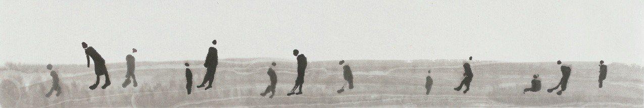 國寶畫家王攀元名作《人群》。圖/史博館提供