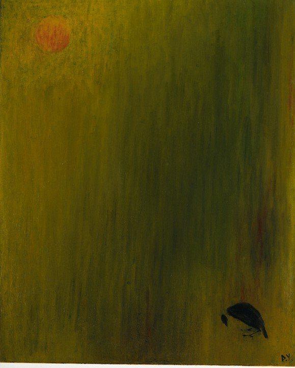 王攀元作品《倦鳥》。圖/史博館提供
