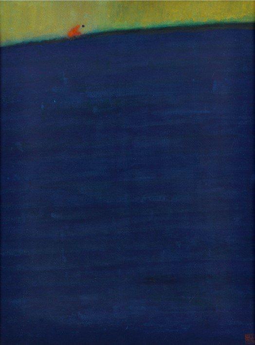 王攀元作品《海的那一邊》。圖/史博館提供