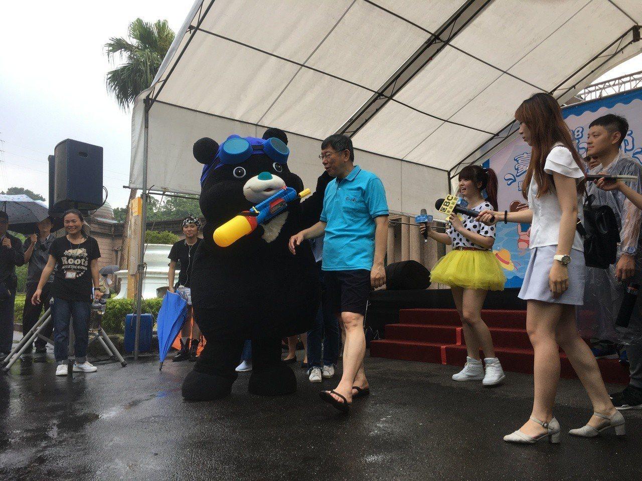 台北市長柯文哲今天出席「2018台北親水節開幕活動」。記者張世杰/攝影