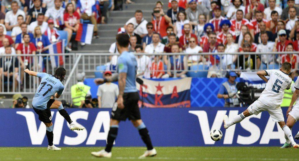 俄羅斯分組賽對烏拉圭。 美聯社