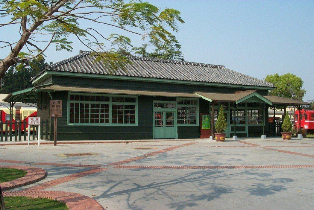 北門驛是「林鐵四大木造車站」之一,保留典型日式車站風貌。 圖/嘉義林區管理處提供