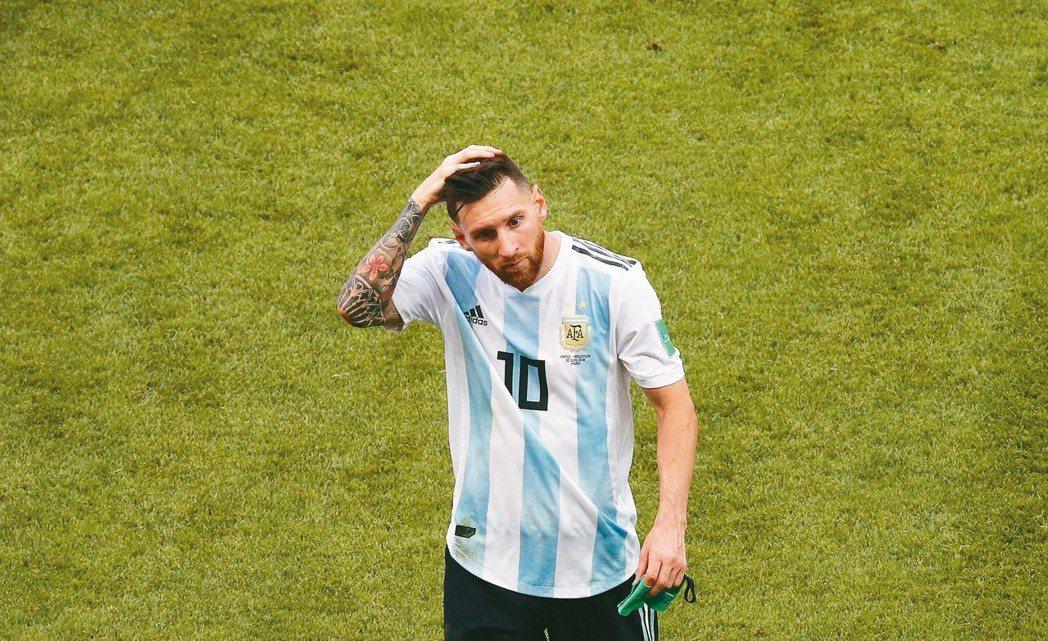 阿根廷止步世界盃16強,梅西至今未能幫助國家隊拿下任何大賽冠軍。 歐新社