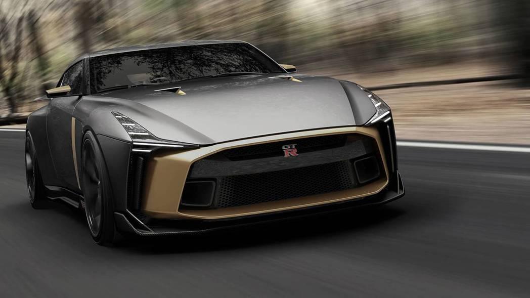 基於2018 GT-R NISMO上所設計,車頭還是看得出原本的輪廓。 摘自NISSAN