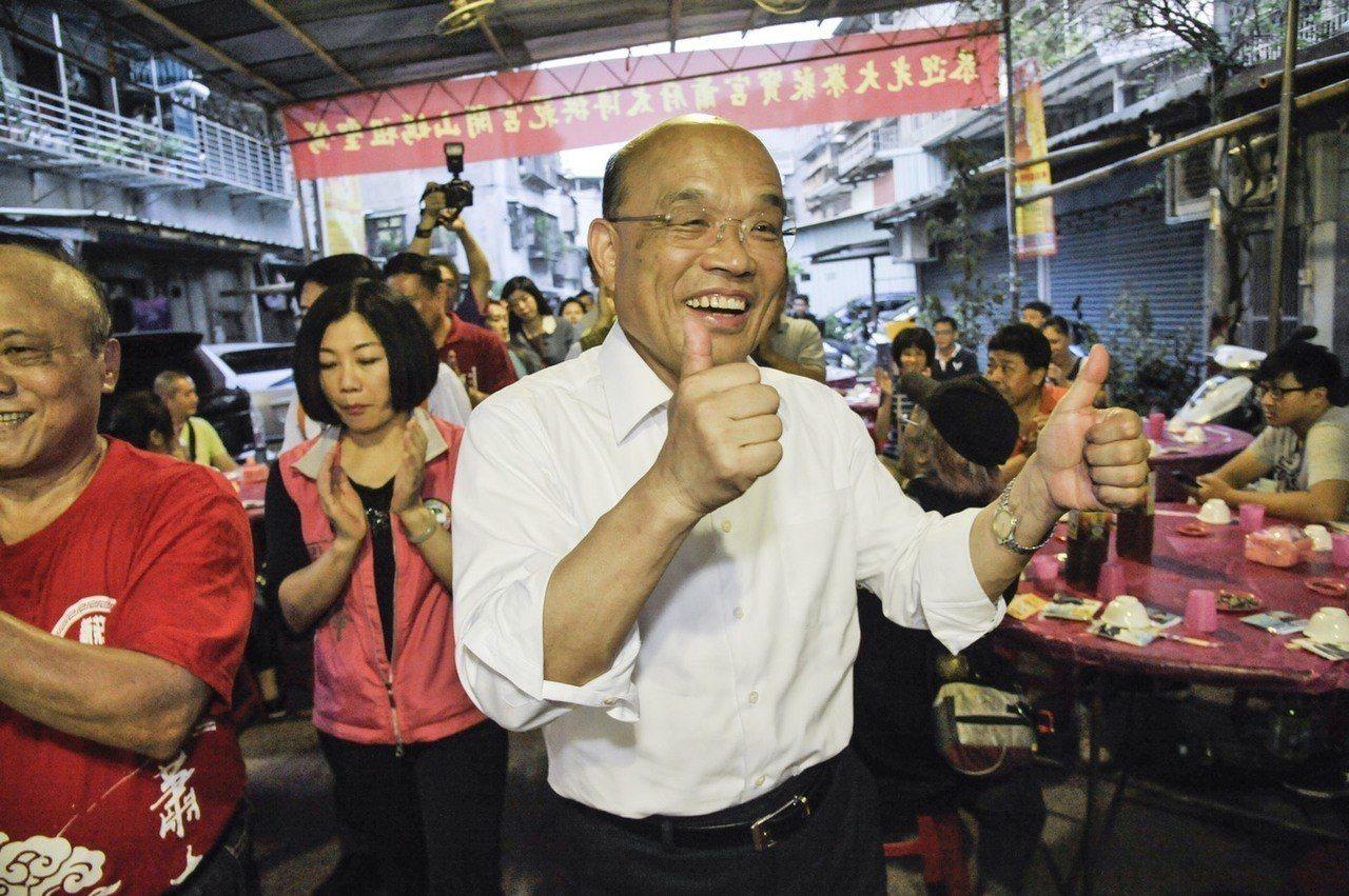 民進黨新北市長參選人蘇貞昌。圖/蘇貞昌競選團隊提供