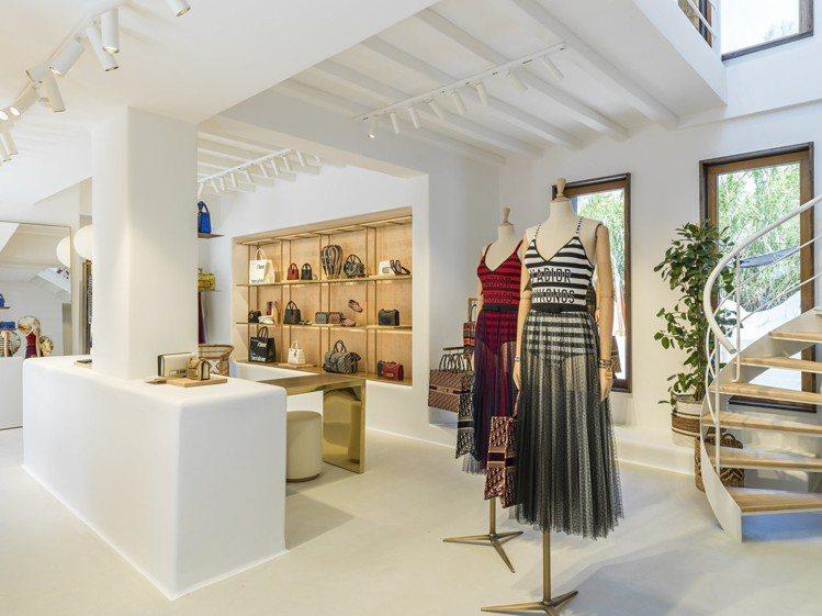 Dior在希臘米克諾斯開設快閃店。圖/Dior提供