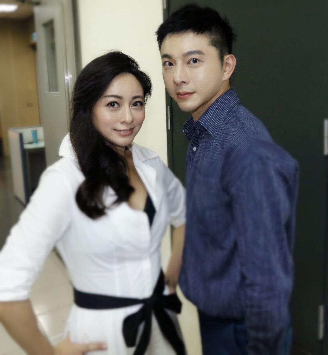 李婷宜(左)和製片人好友陳孝志。圖/陳孝志提供