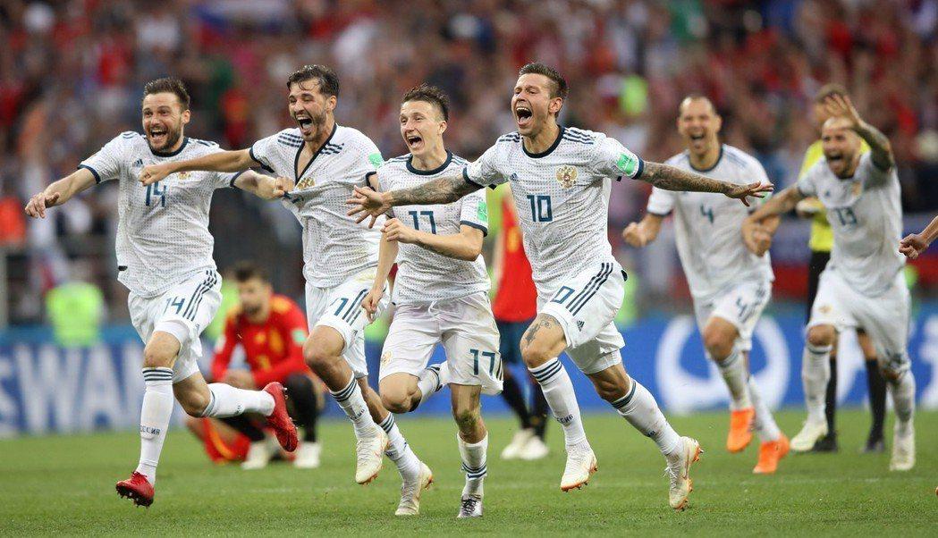 俄國PK勝西班牙。 (路透)