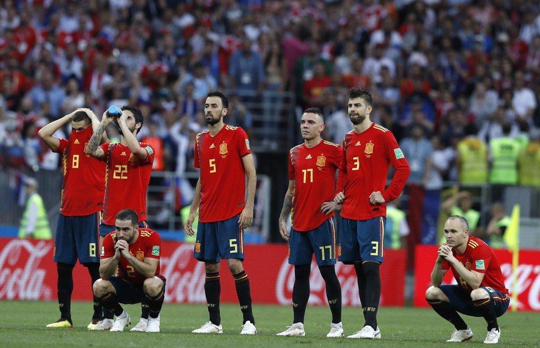 西班牙難掩失望。 美聯社