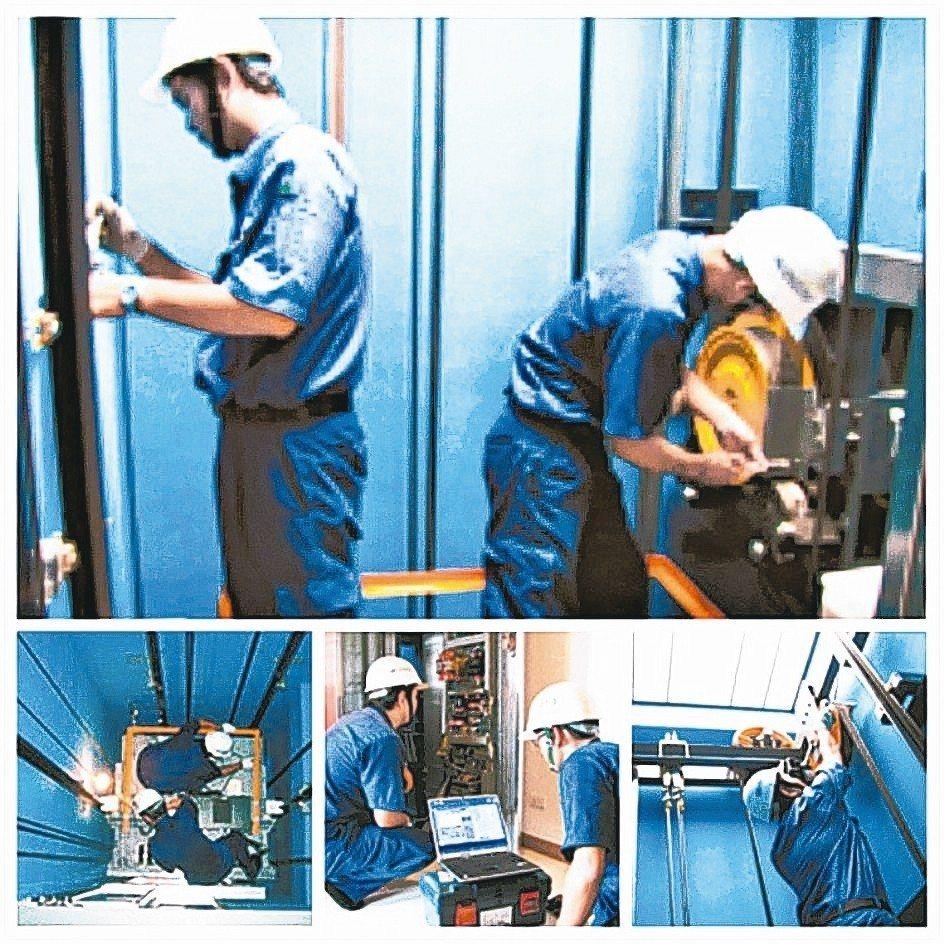 盛大電梯國內外電梯更新工程實績。 盛大/提供