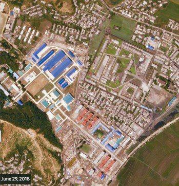 根據衛星影像,北韓剛完成一座重要飛彈工廠的擴建工程。圖為6月29日拍攝。 美國衛...