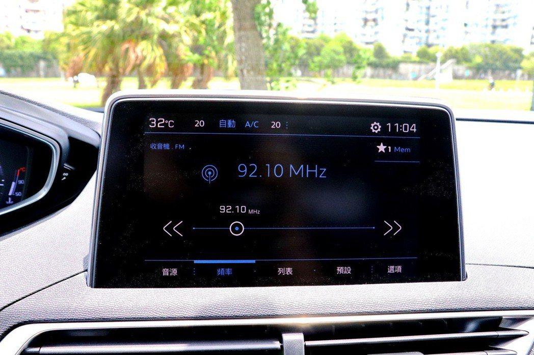 8吋全彩觸控螢幕音響系統。 記者陳威任/攝影