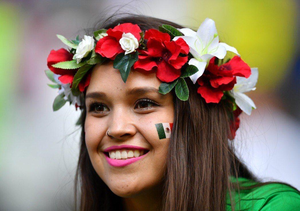 現場墨西哥美女球迷。 路透