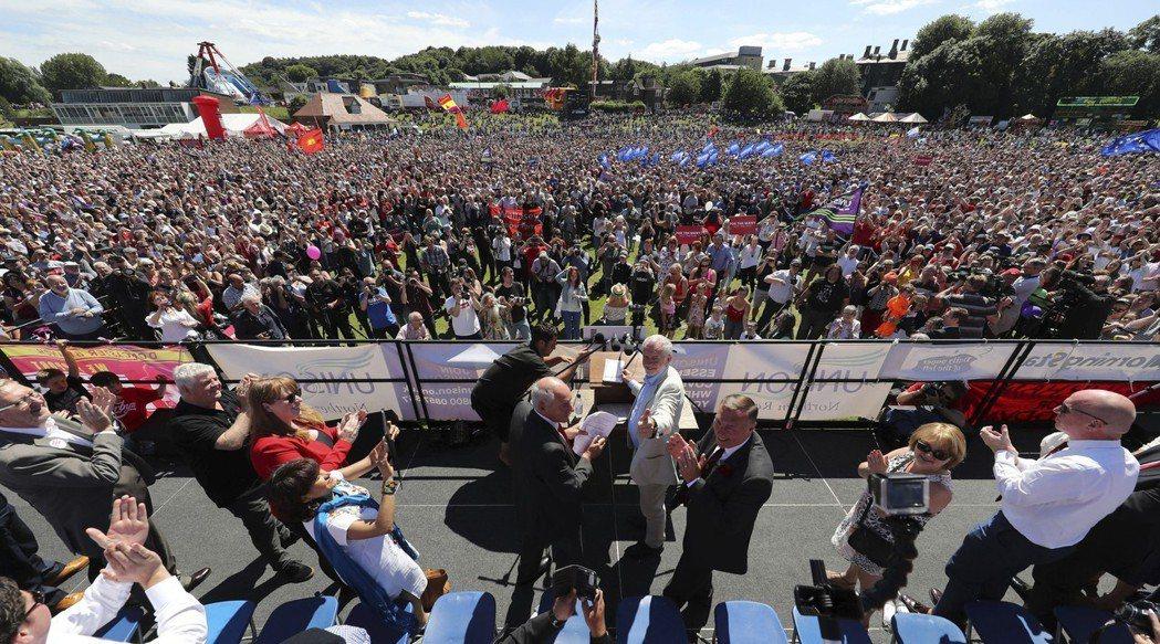 「Oh! Jeremy Corbyn」去年大遊行最終站的集會安排在杜倫大學的運動...