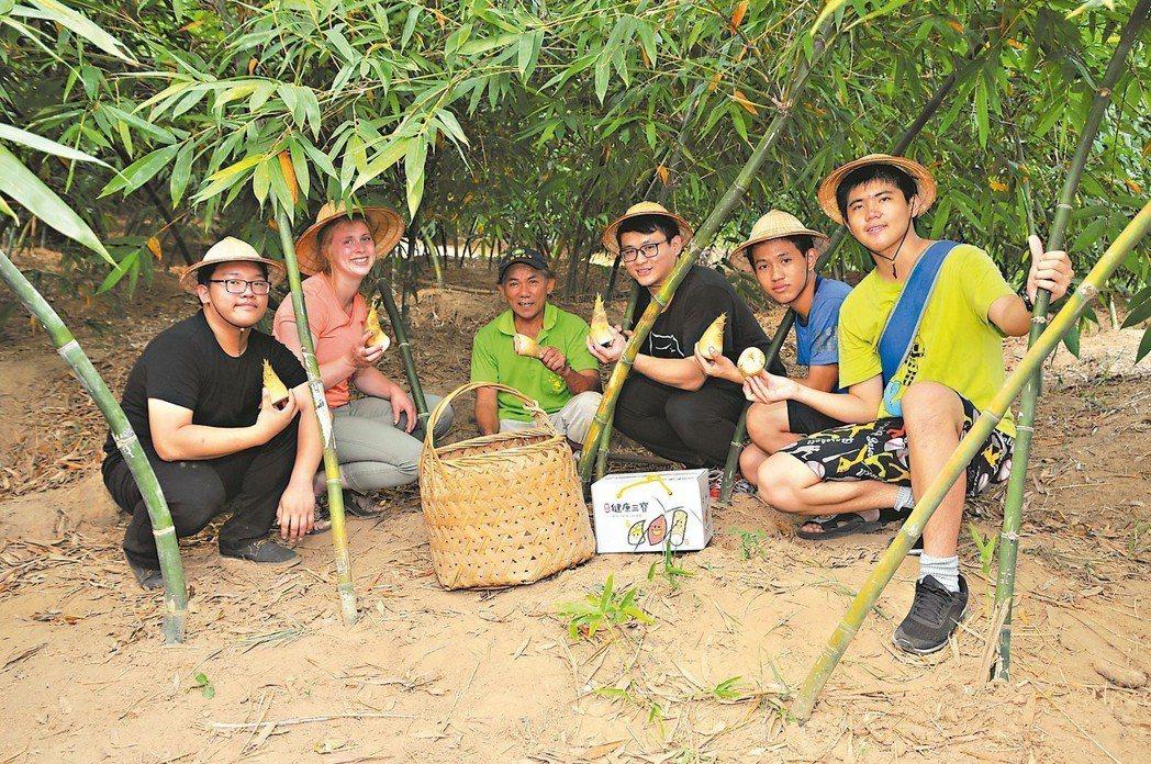 新北市健康三寶之一的綠竹筍進入盛產,7月中旬在八里、五股等地推出「田間廚房採筍一...
