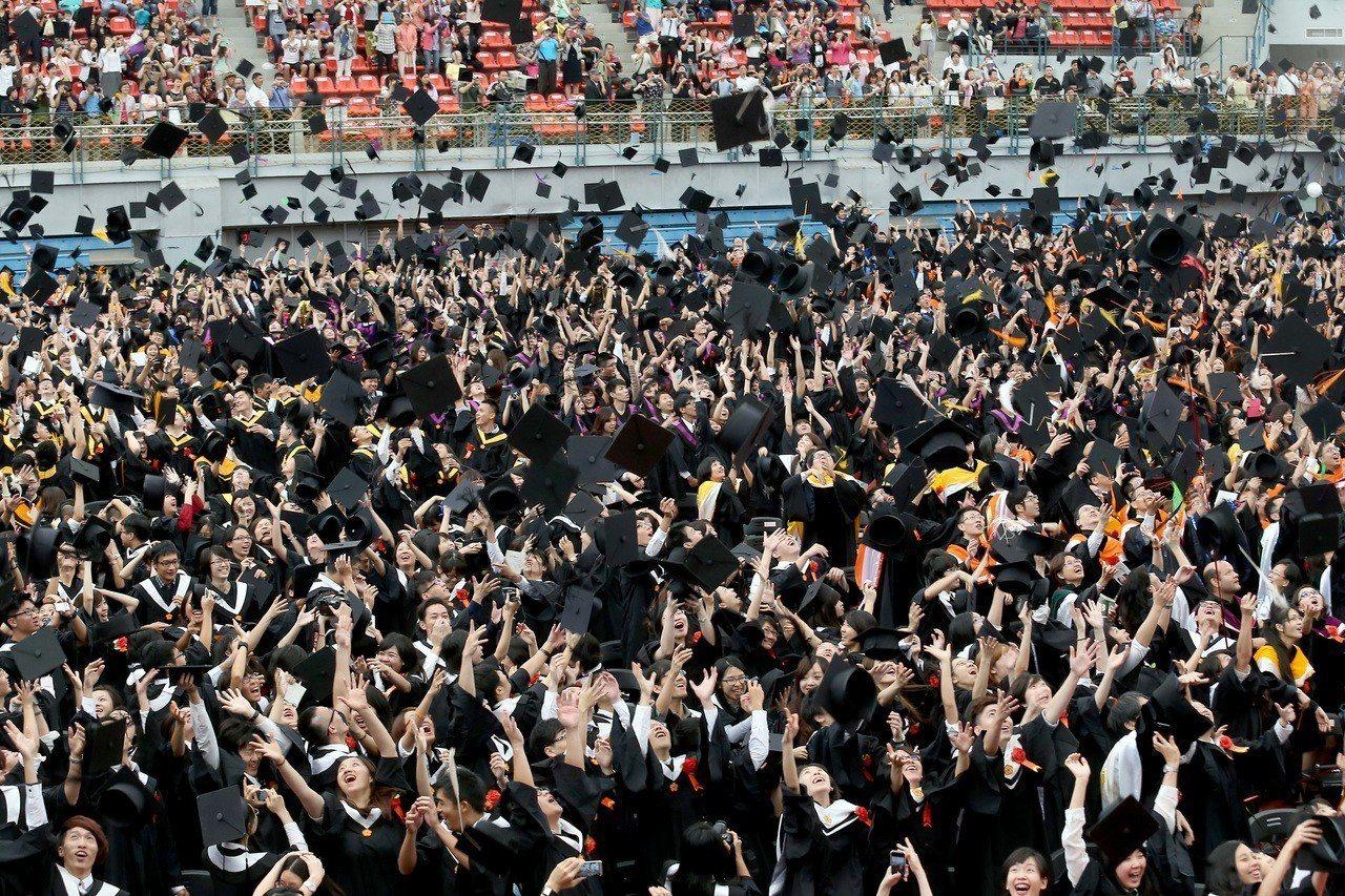 圖為台灣大學畢業典禮。 圖/聯合報系資料照片