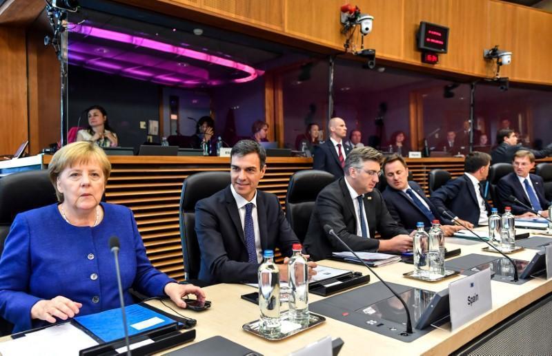 歐盟領袖6月24日在布魯塞爾召開非正式峰會討論移民問題。 (路透)