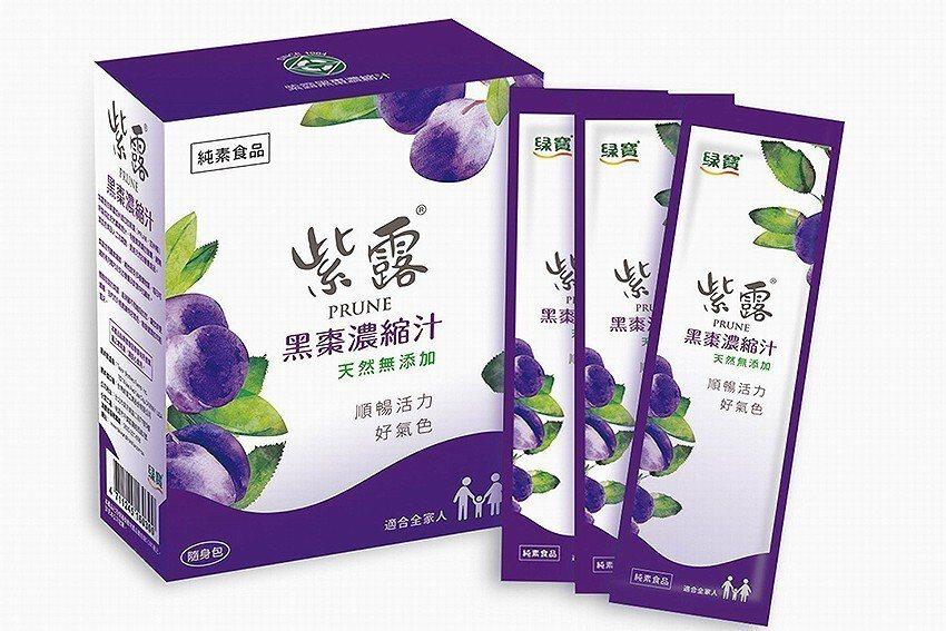 為方便消費者使用,紫露黑棗濃縮汁產品全新推出隨身包八月上市。 台灣綠藻公司/提供