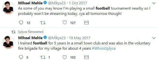 即使當了電競選手,Mikyx有時候也會去踢點小型足球比賽,並因此放掉直播。