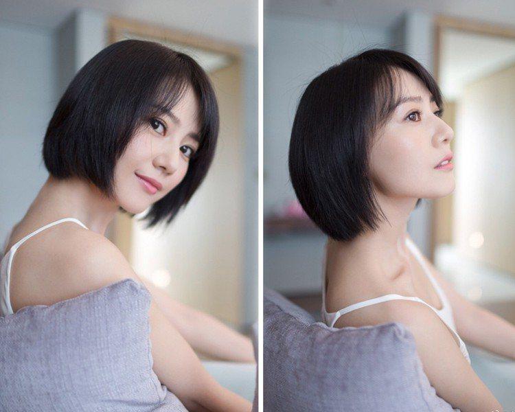 高圓圓剪掉多年來的長髮造型。圖/擷自微博