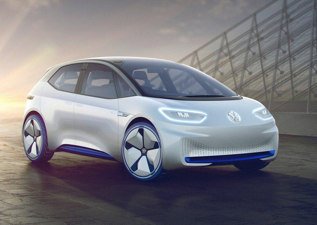 福斯電動概念車 ID hatchback。 摘自Volkswagen