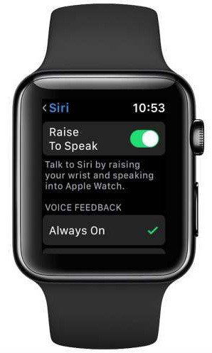 watchOS 5'Raise To Speak' Siri on Apple ...