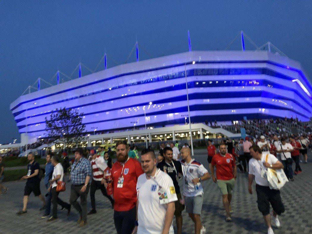 比賽散場後的加里寧格勒球場。 圖/關之恆攝影