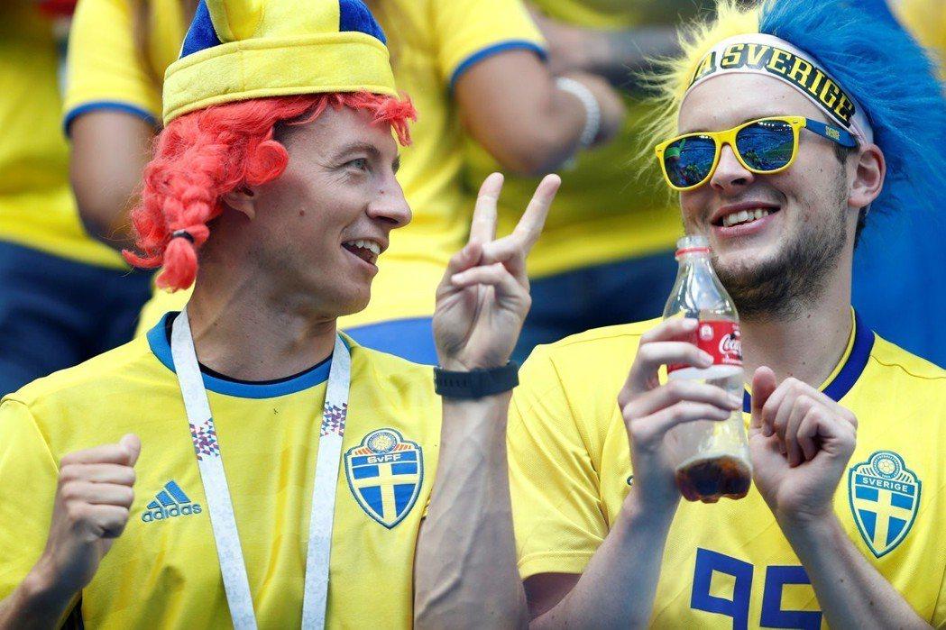 瑞典球迷。 歐新社