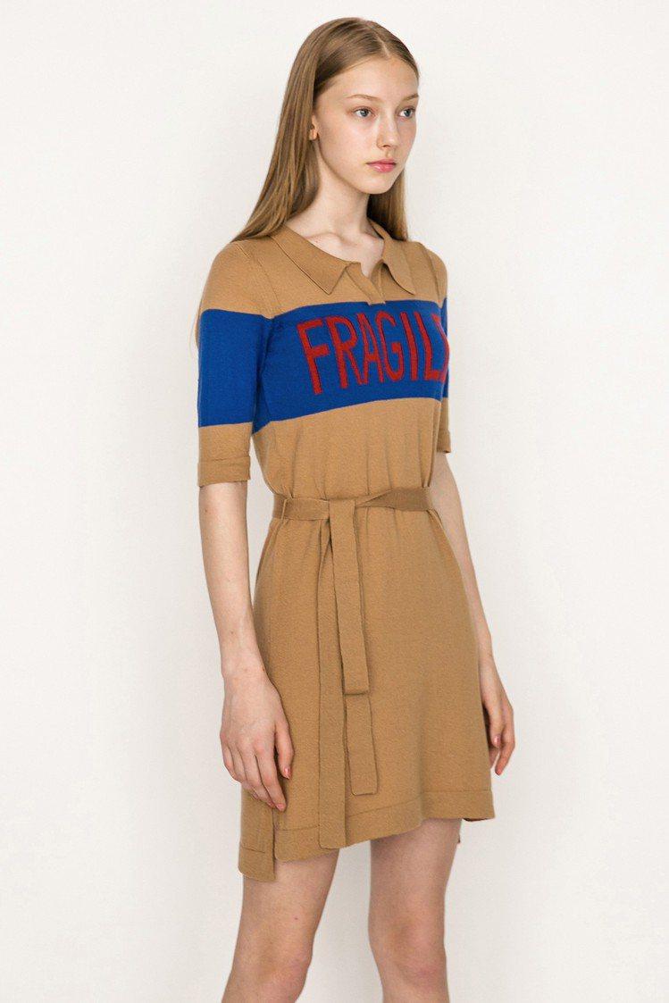 針織洋裝,售價2,680元。圖/JENDES提供