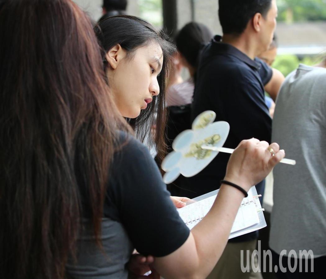 大學指考第三天。記者林澔一/攝影