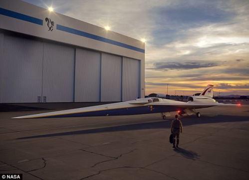 X-59獨特的造型結構將有助減少噪音。  圖/摘自NASA官網