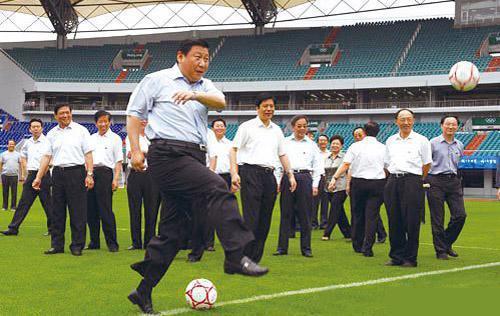 大陸國家主席習近平有個足球夢,自己也酷愛足球。圖/取自網路