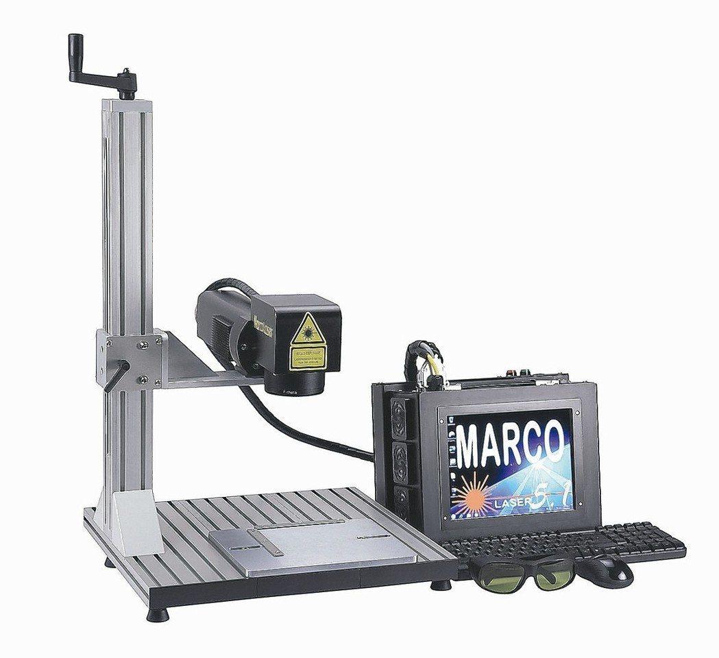 順茂推出國人自行研發製造組裝的超小輕便型攜帶式雷射標刻機。 順茂/提供