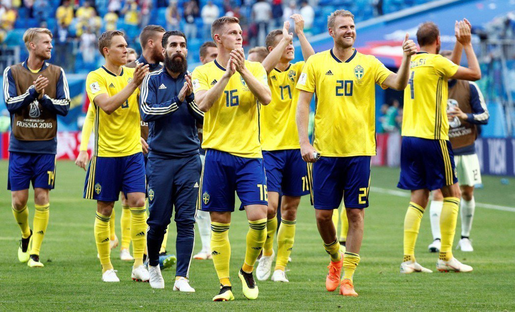 世足16強戰,瑞典1:0擊敗瑞士,取得晉級門票,距離上次進8強相隔24年。 路透...