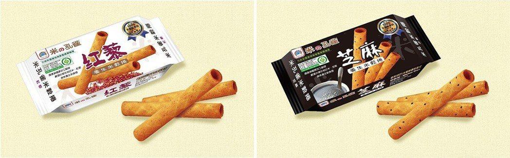 乖乖研發酥脆又養身的米穀捲,100%純米製成,無麩質 圖/農糧署 提供