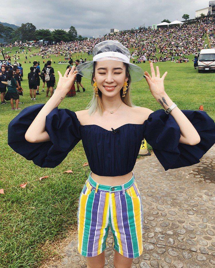 Irene Kim日前現身台東熱氣球嘉年華。圖/擷自instagram