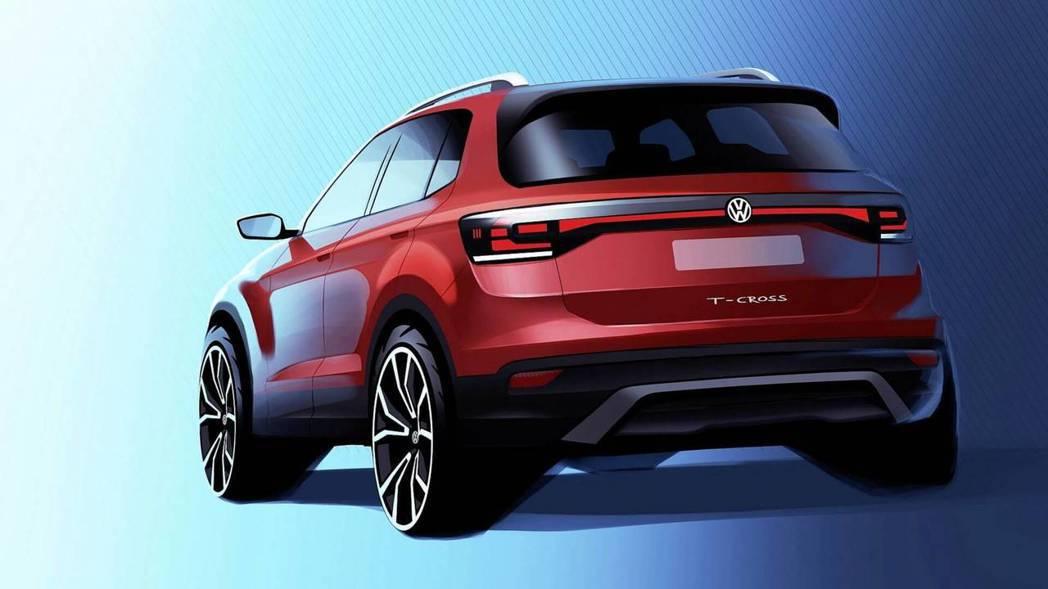 圖為Volkswagen T-Corss 草圖。 摘自Volkswagen