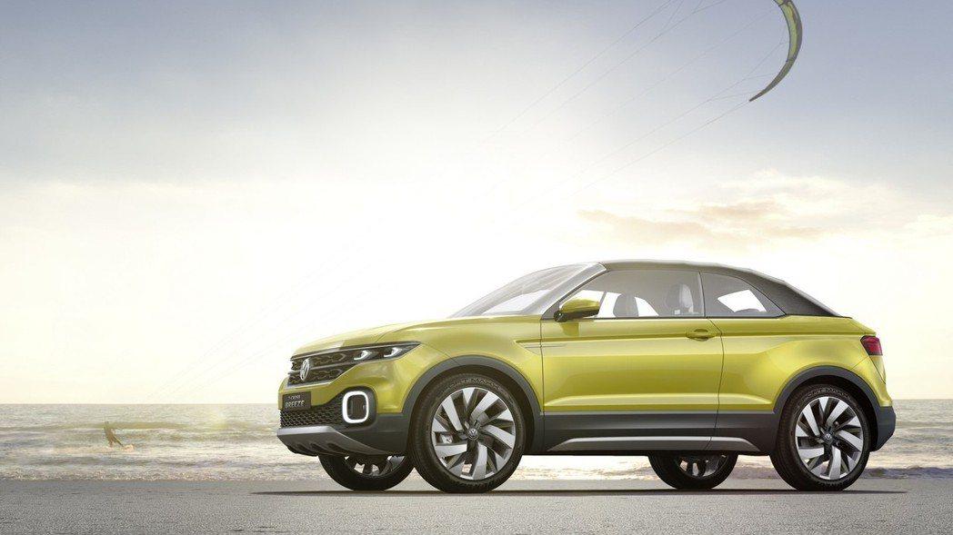 圖為Volkswagen T-Corss Breeze Concept。 摘自V...